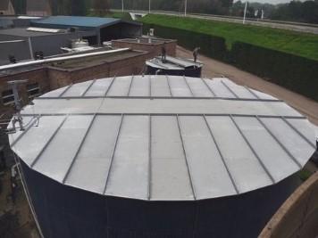 Tank covers in fibreglass
