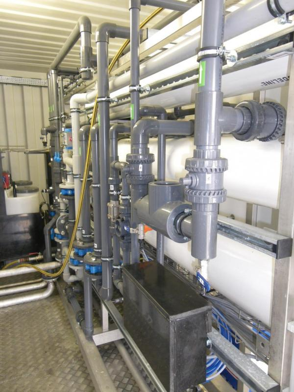 Water reuse industrial laundry