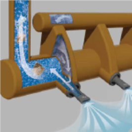 Jet beluchting slot injector
